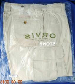 ORVIS 14 POCKET EXPEDITION 100% COTTON CARGO PANTS STONE NEW