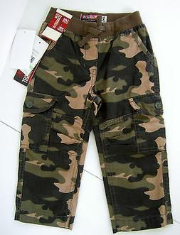 LEE 18 m BABY BOY OLIVE GREEN CAMO TWILL CARGO PANTS SLIM ST