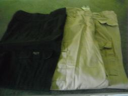 2 New Rothco Khaki Button Fly Cargo Pants 1  Pre Owned Blue