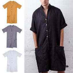 2019 one piece men s linen short