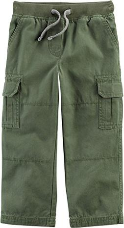 Carter's Boys' 2T-8 Cargo Pants Olive 5