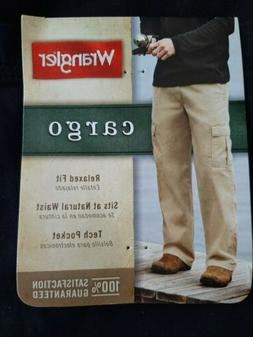 34×30 mens wranglers cargo pants- new with tags