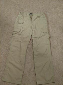 5.11 Tactical Series Women's Cargo Pants Size 10 Khaki 100%
