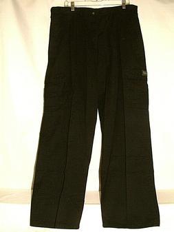 #5010 MENS WRANGLER ORIGINAL CARGO PANTS 38 X 32 BLACK FLAT
