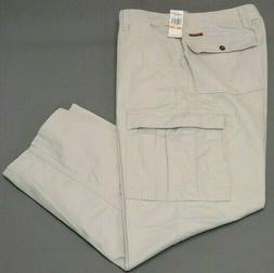 "CHAPS 6-Pocket Cargo Utility Pants Men's 33""X30"" Beige Khaki"