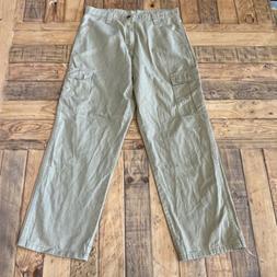 Wrangler 70LEWGR Cotton Khaki Men's Cargo Pants 32W 30L