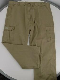 Wrangler 70LEWGR Men's Legacy Cargo Twill Cargo Pants Beige