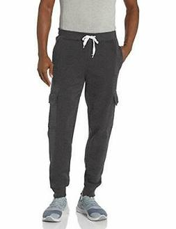 Southpole Men's Active Basic Jogger Fleece Pants, Heather Ch