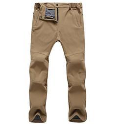 Outdoor Active Fleece Cargo Snow Pants for Hiking Ski etc -