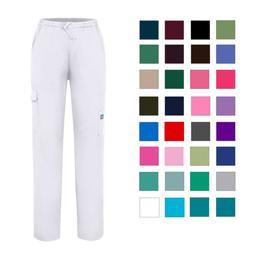 Adar Women Doctor Nurse Uniform Natural-Rise Multi Pocket Ca