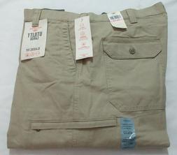 Izod American Chino Flat Front Beige  Men pants 44 X 30
