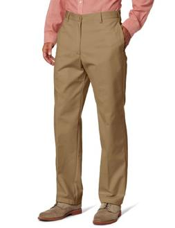 IZOD Men's American Chino Flat Front Pant, Khaki, 29x32