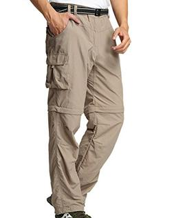 Men's Outdoor Anytime Quick Dry Convertible Lightweight Hiki