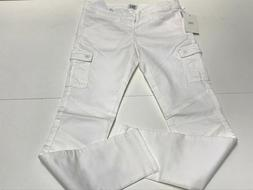 armani new girls teen white skinny cargo