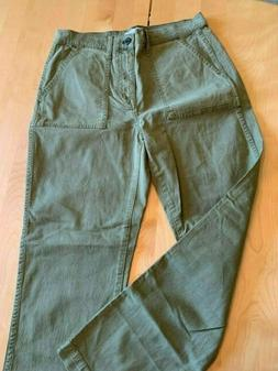 MADEWELL ARMY GREEN  HIGH WAISTED GREEN CARGO PANTS W BIG PO