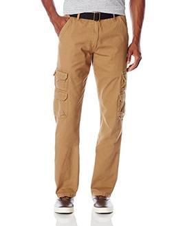 Wrangler Authentics Men's Premium Twill Cargo Pant, Acorn Tw