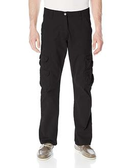 Wrangler Authentics Men's Premium Twill Cargo Pant, Black, 4
