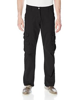 Wrangler Authentics Men's Premium Twill Cargo Pant, Black, 3