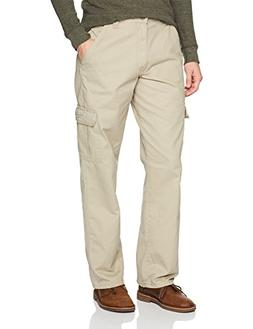 Wrangler Men's Authentics Cargo Pant, New Khaki, 36x32