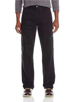 Wrangler Authentics Men's Classic Cargo Pant  Black Twill  3