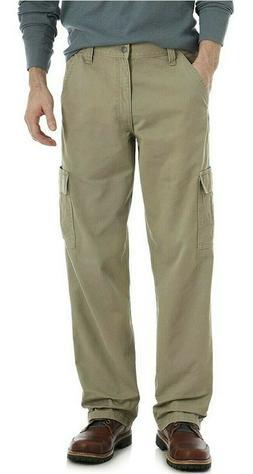 Wrangler Authentics Men's Classic Cargo Pant, Khaki Twill, 3