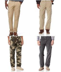 Wrangler Authentics Mens Fleece-Lined Cargo Pants Trousers C