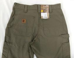 CARHARTT B151 LBR 33 30 Canvas Work Pants, Light Brown, Size