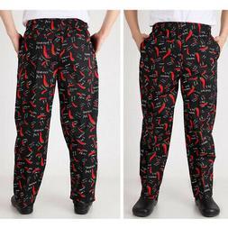 Baggy Chef Pants Uniform Loose Fit Cargo Pants Kitchen Work