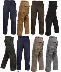 BDU Pants Solid Colors 6 Pocket Military Cargo Army Fatigue