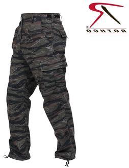BDU pants military style tiger stripe camo cargo trousers Po