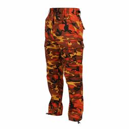 BDU Pants Savage Orange Camo Military Cargo Fatigue  Rothco