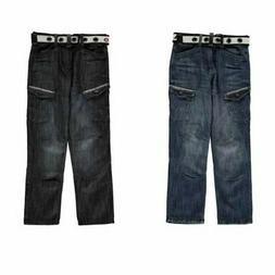 Airwalk Belted Cargo Jeans Juniors Skate Clothing Pants Trou