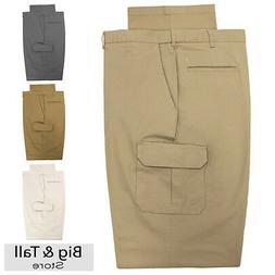 Haggar Big & Tall Men's Cargo Pants with Expandable Waistban