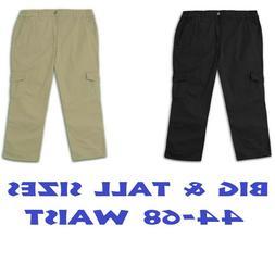 Big & Tall 4U Basics Men's Casual Cargo Pants Side Elastic F