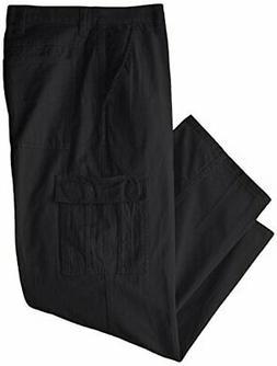 Wrangler Men's Big-Tall Authentics Classic Cargo Pant, Black