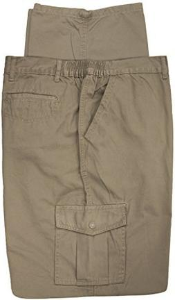 Full Blue Big & Tall Men's Cargo Pants 100% Cotton 48 X 30 K