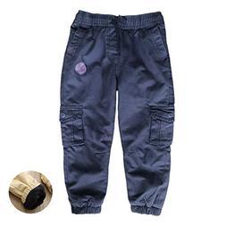 Abalacoco Big Boys' Winter Warm Pants Fleece Thick 100% Cott