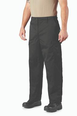 Black BDU Cargo Pants Battle Dress Uniform Zipper Fly Proppe