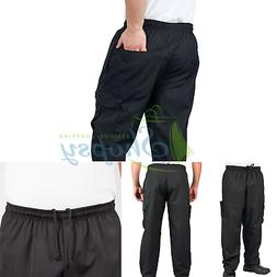KNG Black Cargo Style Chef Pant, L