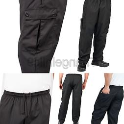 KNG Black Cargo Style Chef Pant, XL