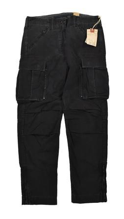 Ralph Lauren RRL Black Heavy Cotton U.S. Military Cargo Pant