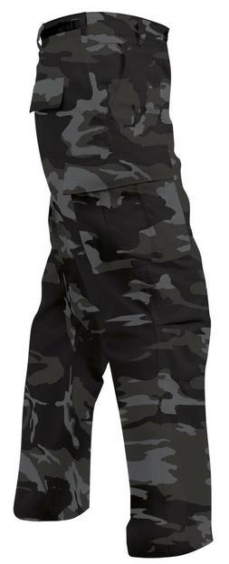 Black Night Military BDU Cargo Bottoms Fatigue Trouser Camo