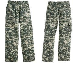 Boy's New CARGO PANTS  Camouflage Youth - Waist Adj. Army Tw