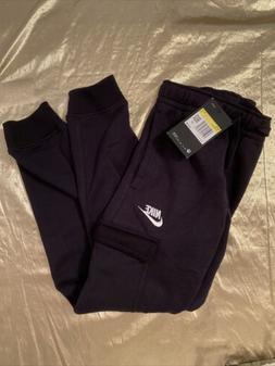 Nike Boys Black Sweatpants Side and Cargo Pockets Black Size