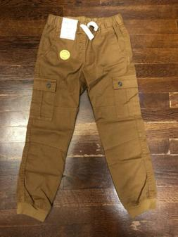 Boys' Brown Cargo Jogger Pants Cat & Jack Size 7 New With Ta