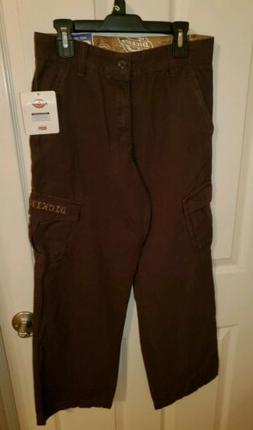 Dickies Boys Brown Pants Cargo  Sizes 14 NWT Style 945655