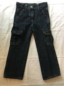 Boys Wrangler Cargo Blue Jeans Pants Size 5 Slim