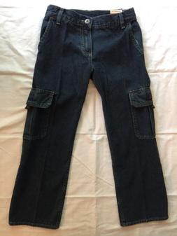 Boys Wrangler Cargo Blue Jeans Pants Size 8 Regular