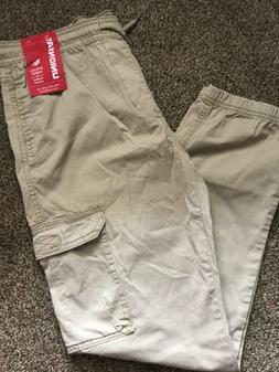 Unionbay Boys Youth Cargo Pull-On Pants Large 14-16 NWT Grai