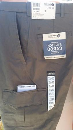 BRAND NEW HAGGAR CLASSIC FIT STRETCH CARGO PANTS ***** CELL